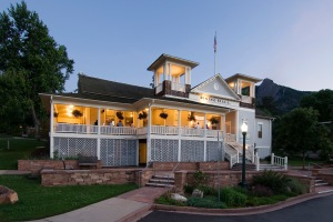 Chautauqua Dining Hall  at Dusk in Boulder, CO